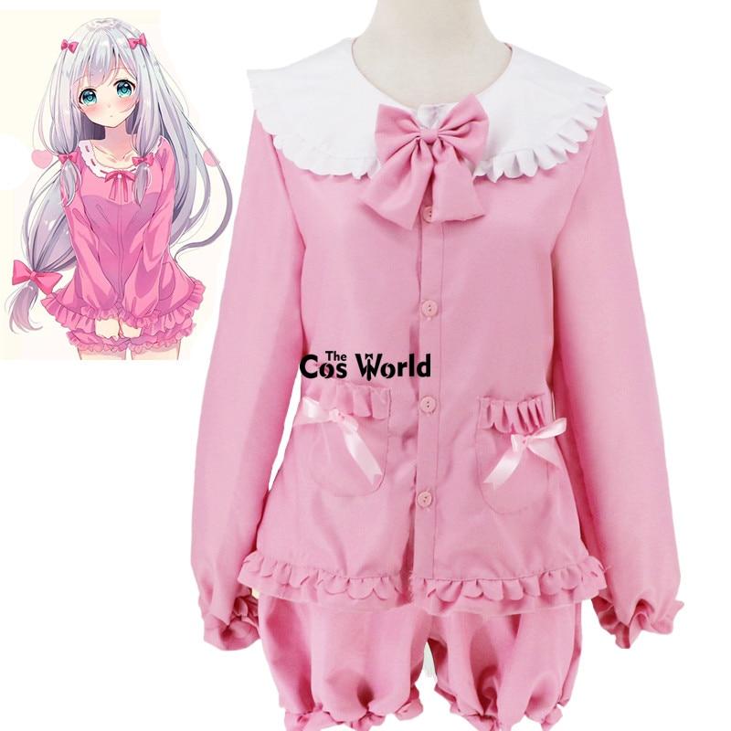 Милая Пижама Eromanga Sensei Izumi Sagiri, ночная рубашка, одежда для сна, топы, штаны, Униформа, костюмы для косплея аниме