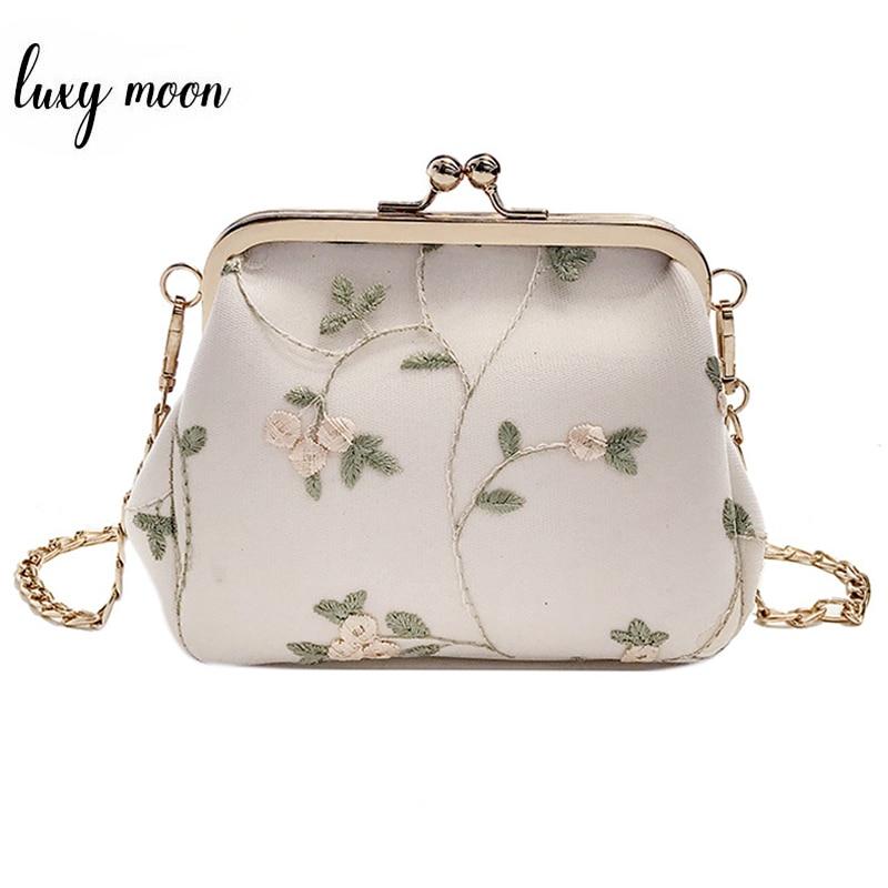 Small Shell Bag Exquisite Handmade Embroidery Lace Shoulder Bag for Women Korean Style Messenger Bag Female Bags Bolsa ZD1060