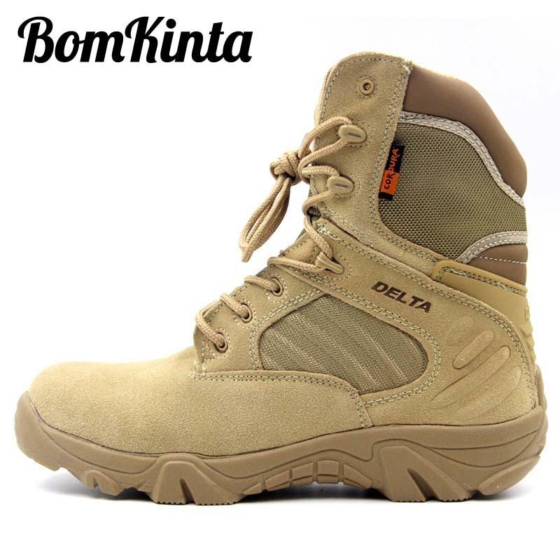 Botas militares BomKinta Vintage de alta calidad para hombre, botas militares de combate con cremallera para hombre, botas de seguridad para hombre de talla grande 47 Erkek Bot