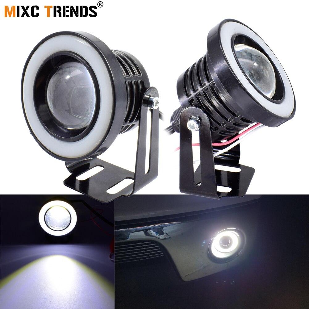 "2Pcs 30W COB LED Fog Light with Spotlight Lens 12V 2.5inch 3"" 3.5"" Halo Angel Eye Rings DRL Fog Lamp for Car Motorcycle OffRoad"