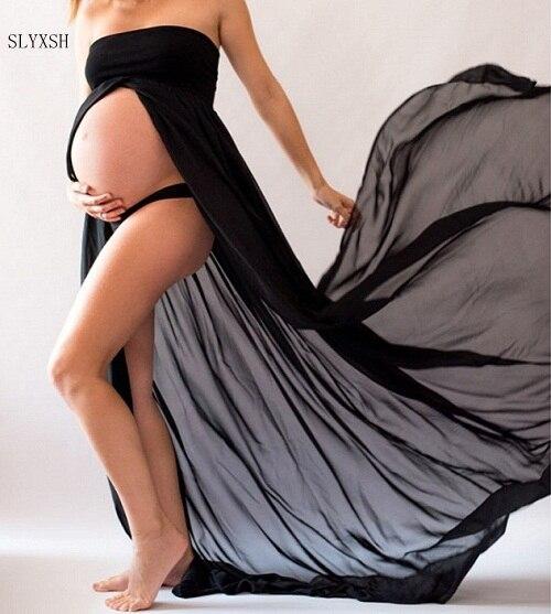 Белые и черные платья для беременных, длинные платья для беременных