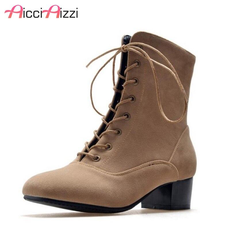Botas de media caña ZALAVOR talla 32-47 para mujer, zapatos cálidos de piel gruesa para mujer, Botas de tacón alto, Botas de invierno hechas a mano Foowtears