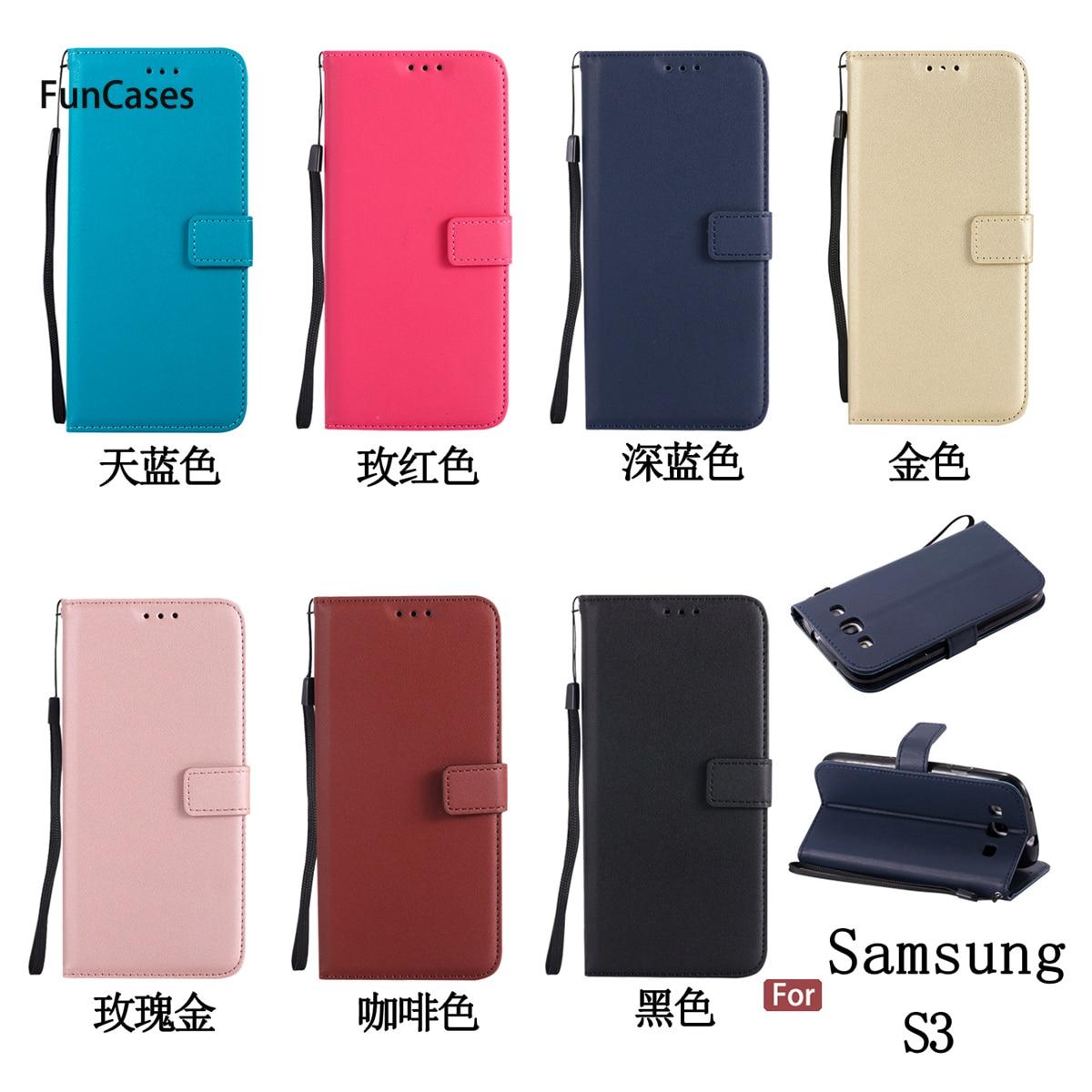 Funda cartera para teléfono sFor Etui Samsung S3 funda con ranura para tarjetas Carcasa cartera funda para teléfono Samsung Galaxy S3 Neo i9300 i9305 SIII