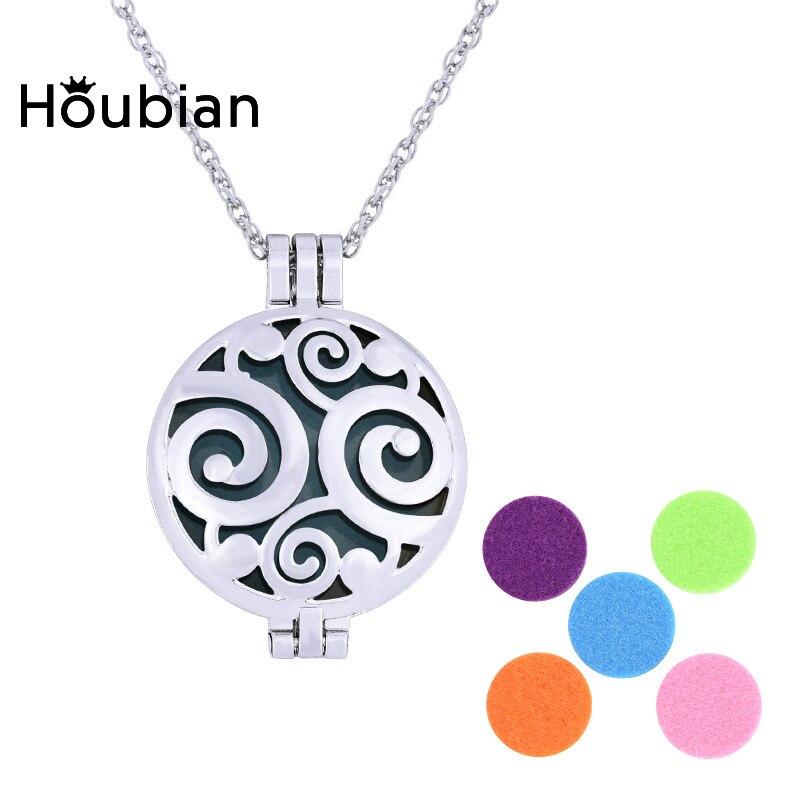 Женское колье с ароматерапией Houbian, серебряное ожерелье с эфирными маслами, вечерние украшения
