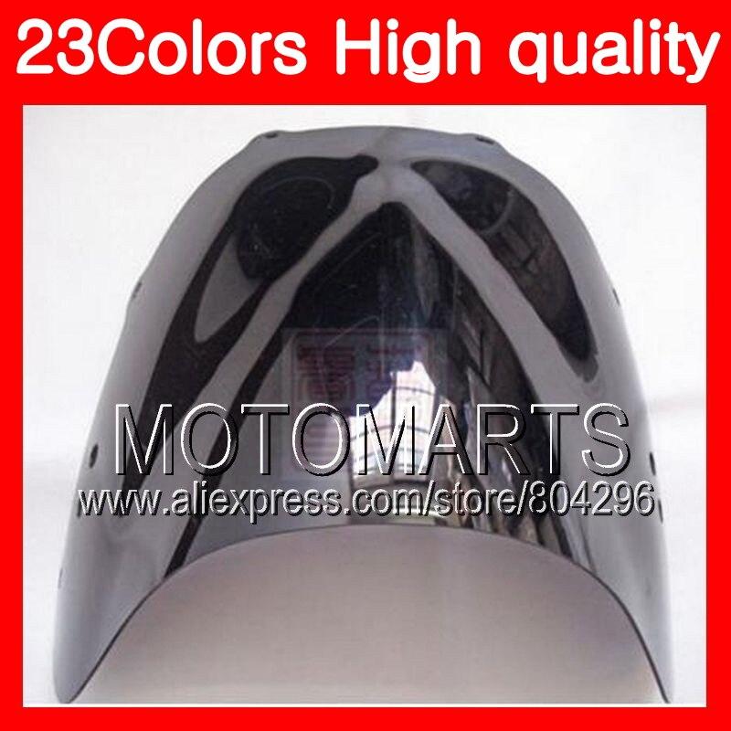 23 colores parabrisas para HONDA CBR400RR NC29 CBR400 RR CBR 400 RR 95, 96, 97, 98, 1995, 1996 de 1998 Cromo Negro el humo de parabrisas