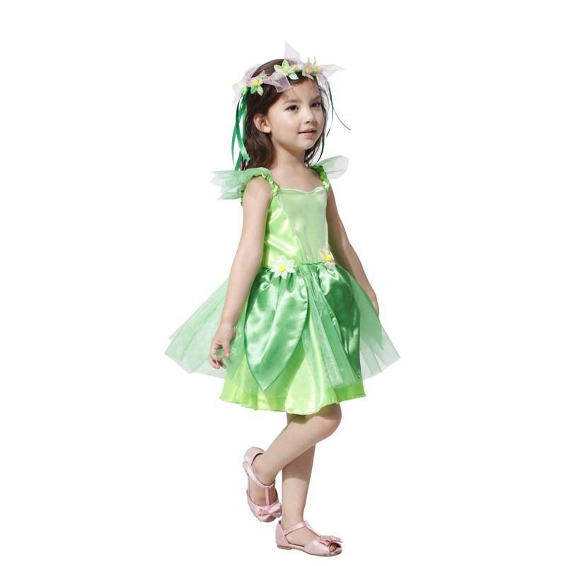 Halloween Elf Kids Girls Flower Fairy Tinkerbell Cosplay Costumes Dress Avenue Neverland Garden Fairy Costume