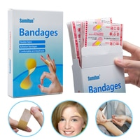 100pcs Waterproof Breathable Adhesive Wound Band Aid Hemostasis Adhesive Bandages First Aid Emergency Kit For Kids Children