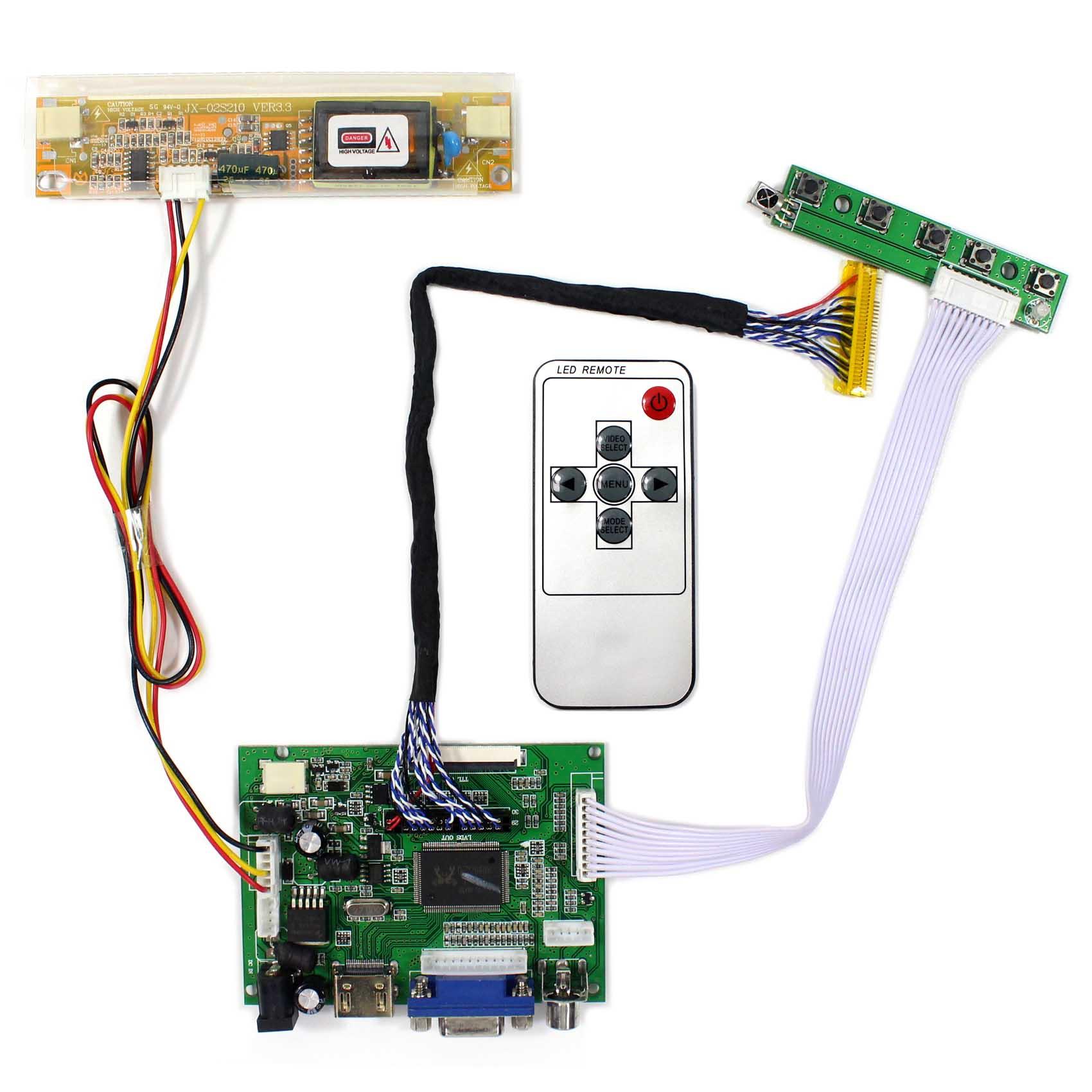 """Para 15,4 """"17"""" 1440x900 pantalla LCD LP171WP5 5N154C3 N170C3-L01 LTN154BT05 B170PW02 CLAA154WP05 HDMI VGA 2AV placa controladora LCD"""
