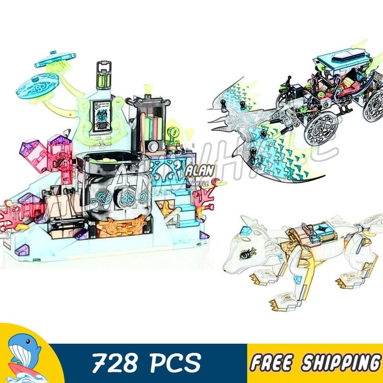 728 pçs emily noctura showdown lobo mal bat carro de laboratório figura blocos de construção brinquedos compatíveis com lego