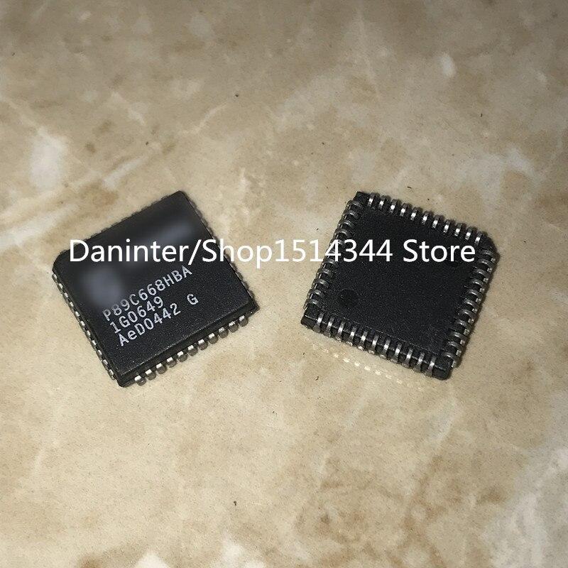 P89C668HBA P89C668 P89C668H P89C668HFA teste passar PLCC44 5 PÇS/LOTE aliexpress