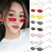 Frauen mode Männer Motorrad Brille Retro Kleine Oval Sonnenbrille Metallrahmen Shades Brillen Fahrer brille