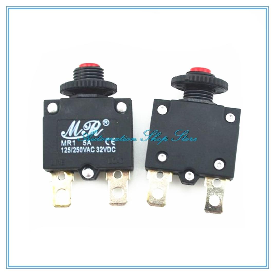 5 uds., 2A, 3A, 5A, 6A, 7A, 8A, 10A, 15A, 20A, interruptor de protección de sobrecarga