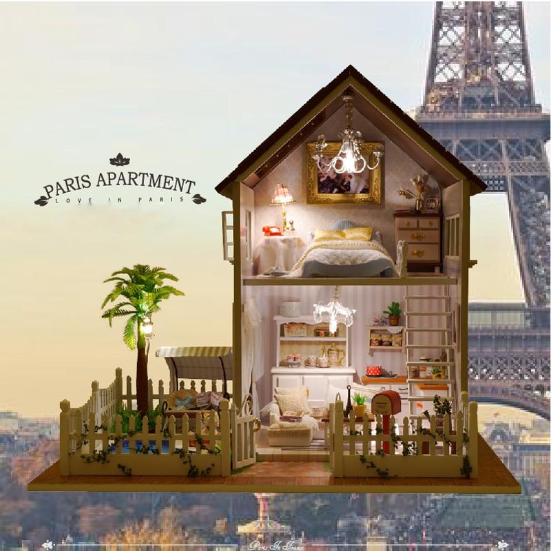 Dreamlike Casa DIY Handmade Montado Modelo de Caixa de Música De Música de Madeira Caixa de brinquedos Educativos de Construção Para Adultos Presente Namorada