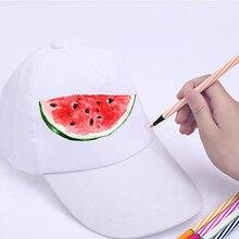 White hand-painted cap baseball cap blank children DIY art painted cap
