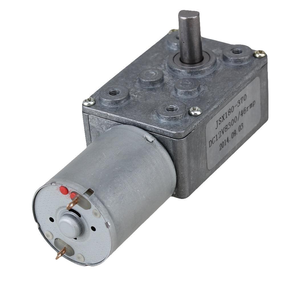 46RPM baja velocidad 1,5G CM DC 12V Motor de alto par Turbo gusano 370 motorreductor