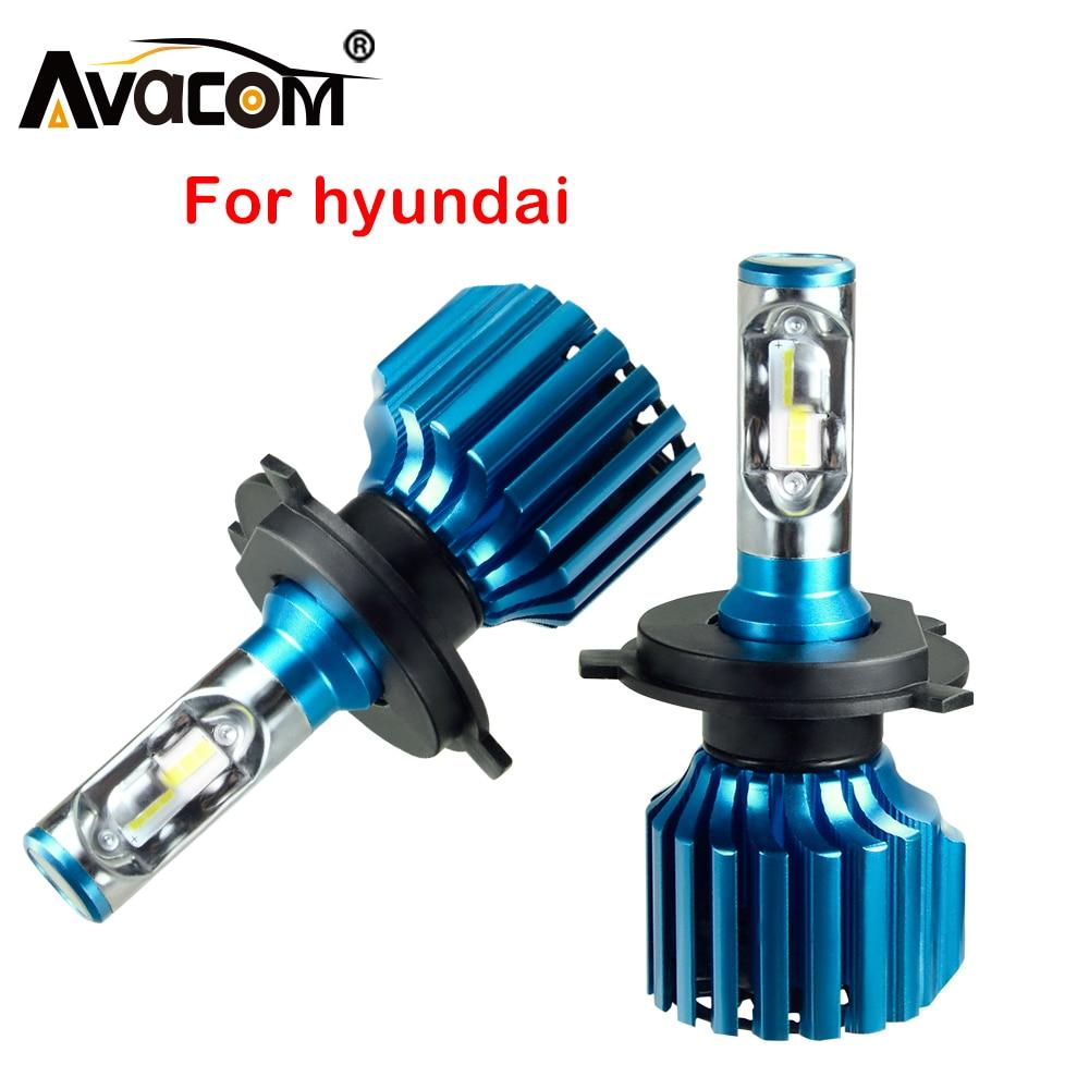 Avacom 2 uds LED bombillas de faro delantero de coche 12V 12V CSP 6500K 12000Lm 72W Auto DRL Luz de niebla para Hyundai Creta/ix35/acento/Sonata/Tucson