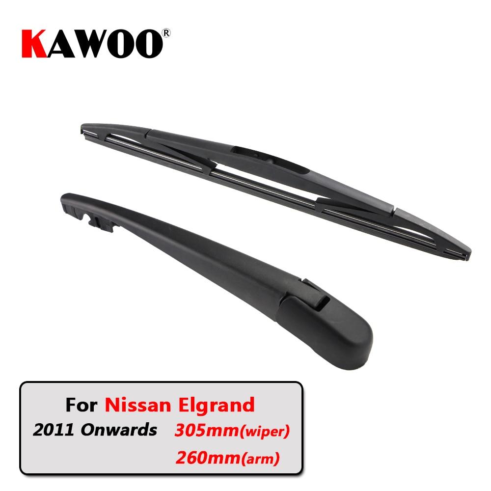 Balais dessuie-glace arrière de voiture   KAWOO bras dessuie-glace arrière pour Nissan Elgrand hayon (2011 à compter) 305mm lame de pare-brise automatique