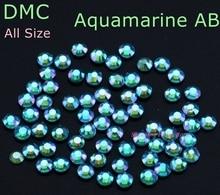 Aquamarine AB DMC verre brillant accessoires vêtement   Strass Hotfix SS6 SS10 SS16 SS20