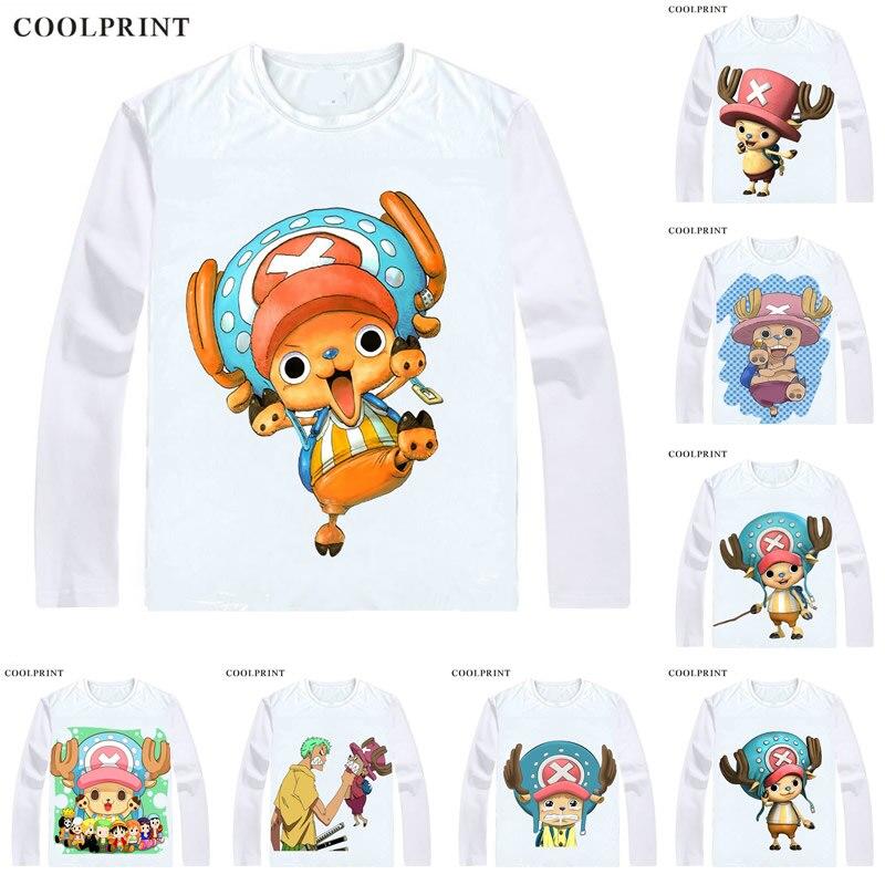 COOLPRINT, camisetas de una pieza, camisa de Manga larga, Anime Manga Wan Pisu, sombrero de paja, piratas, Tony, Tony Chopper, Camisa de algodón Candy Lover