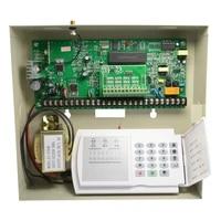 Boite en metal de vente dusine systeme dalarme de securite domestique PSTN 8 16 avec et 16 zones sans fil lien au detecteur de fumee detecteur de mouvement PIR