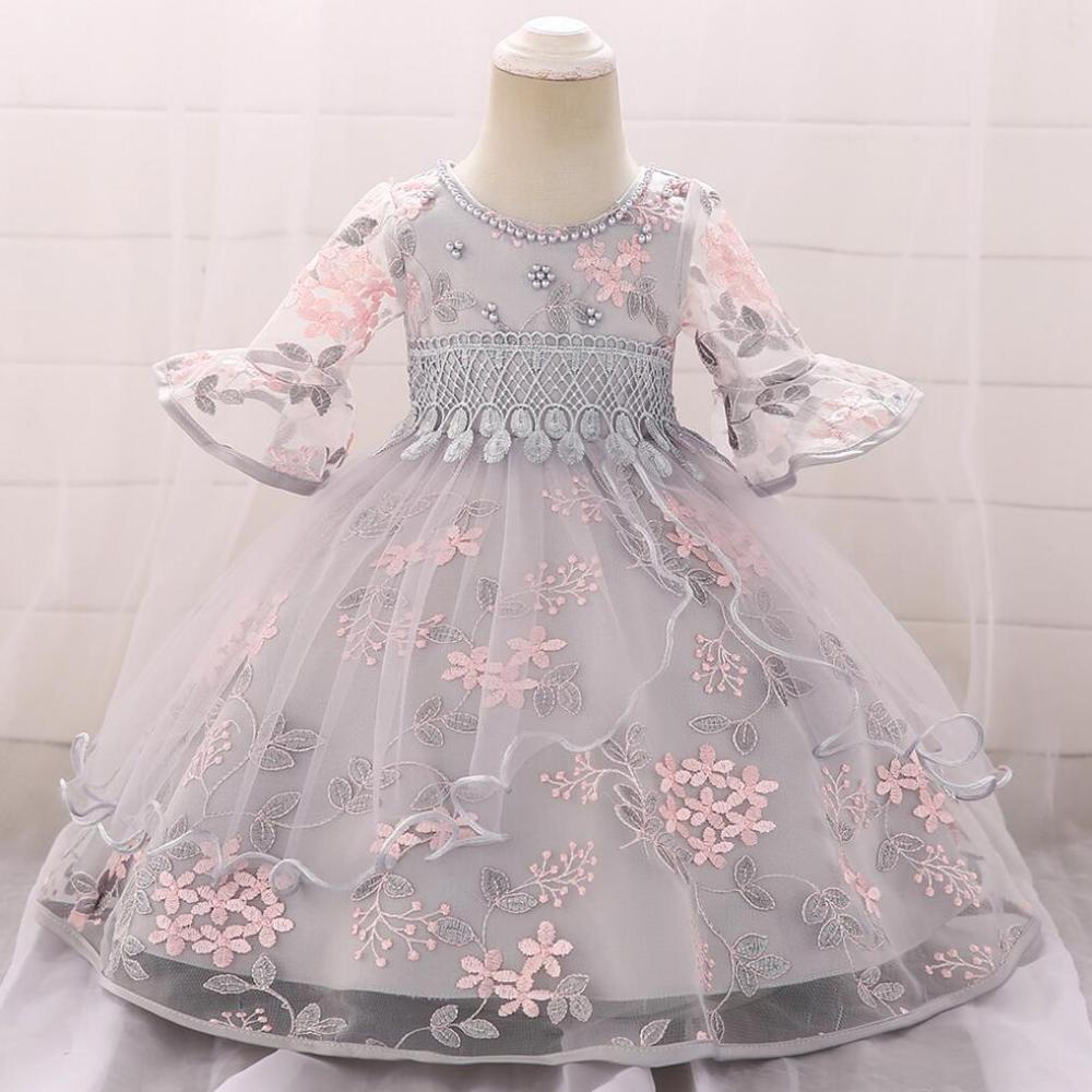 Baby Girl Princess Dress Elegant Wedding party Kids Dresses for Toddler Girl Long sleeve Elegant Christmas Pageant Clothing