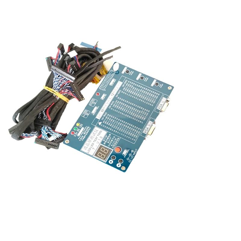 Ноутбук ТВ/LCD/LED набор инструментов для тестирования led Панель тестер поддержка 7-84 дюймов LVDS интерфейс + 14 шт ЖК-экран кабель