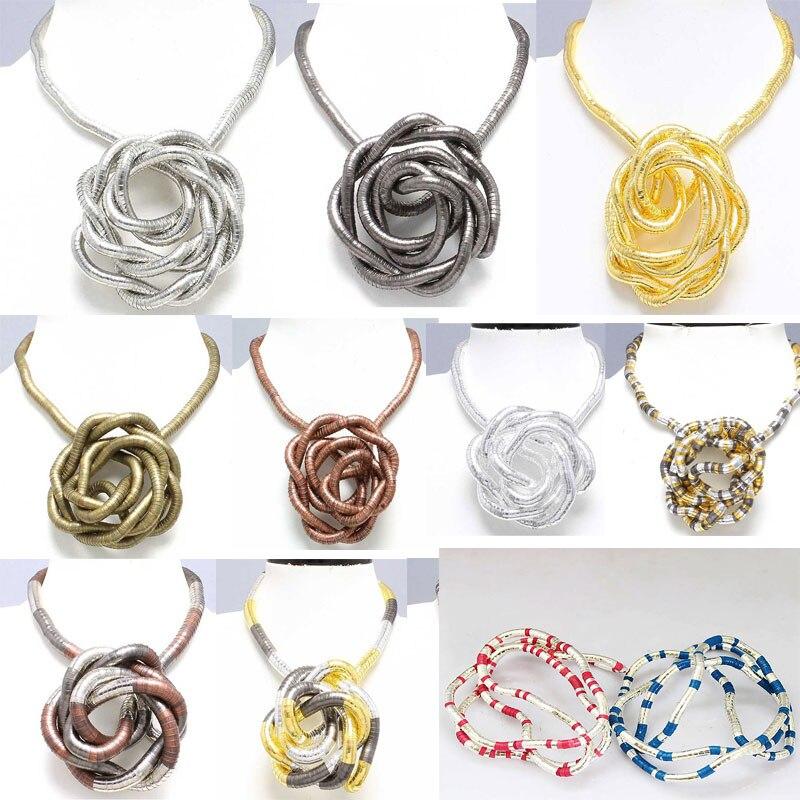 5 мм 90 см смешанный красочный Железный сгибаемый гибкий скрученный Змеиный ожерелье 20 видов цветов в наличии, 1 шт/упак.