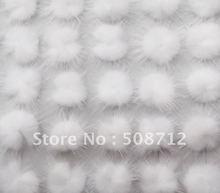 Free shipping!!!!500pcs mink fur ball embellishment sew trim for DIY craft hair accessory 30m white