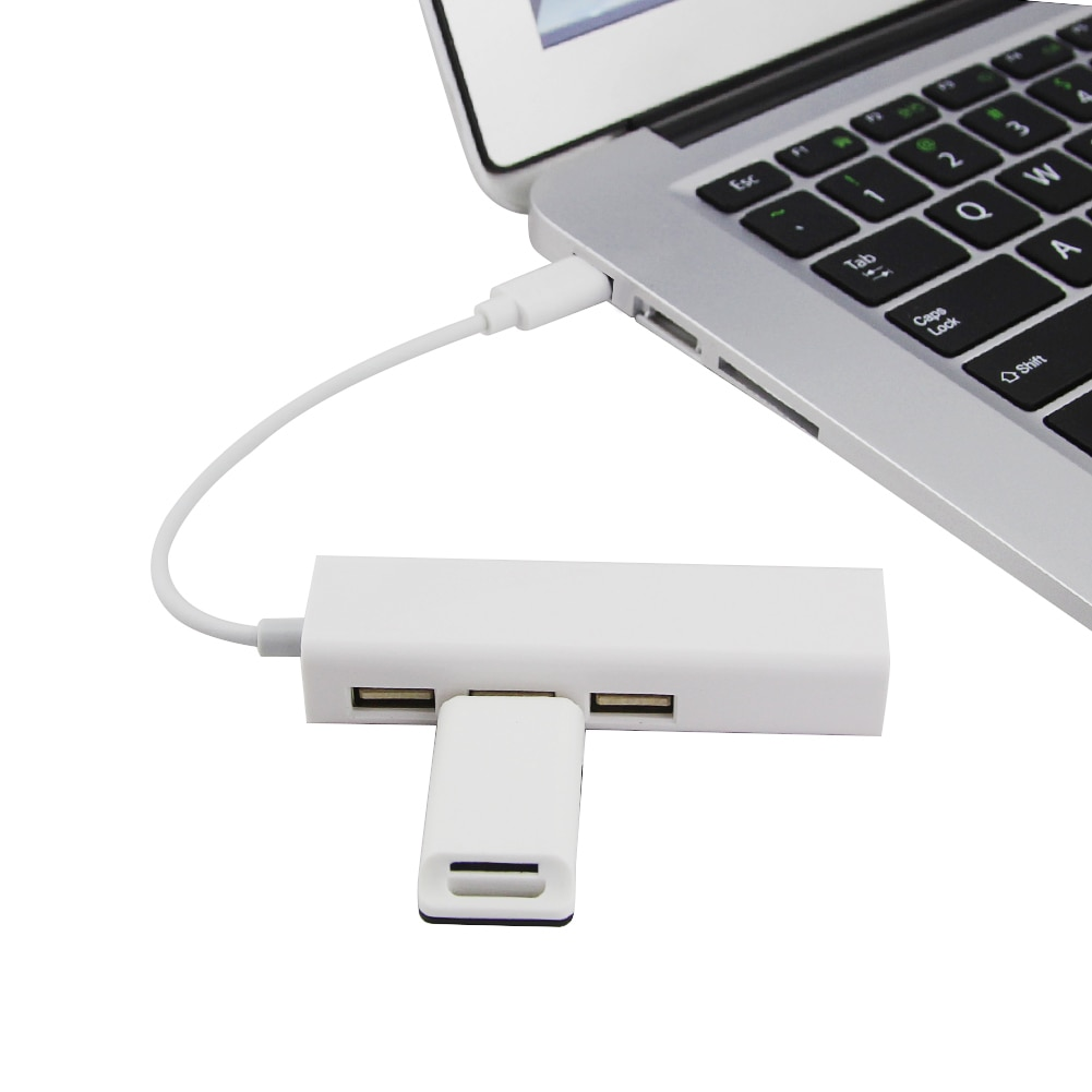 USB Ethernet Adapter Usb Hub 2.0 Type C to Network Card 2.0 with 3 Ports Splitter Adapter Expand PC Accessories For Macbook