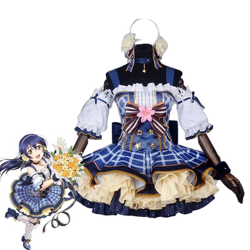 Anime amor EN DIRECTO especial-Cosplay ramo de disfraces despertar Minami Kotori Cosplay Umi Eli exprés vestido para las mujeres