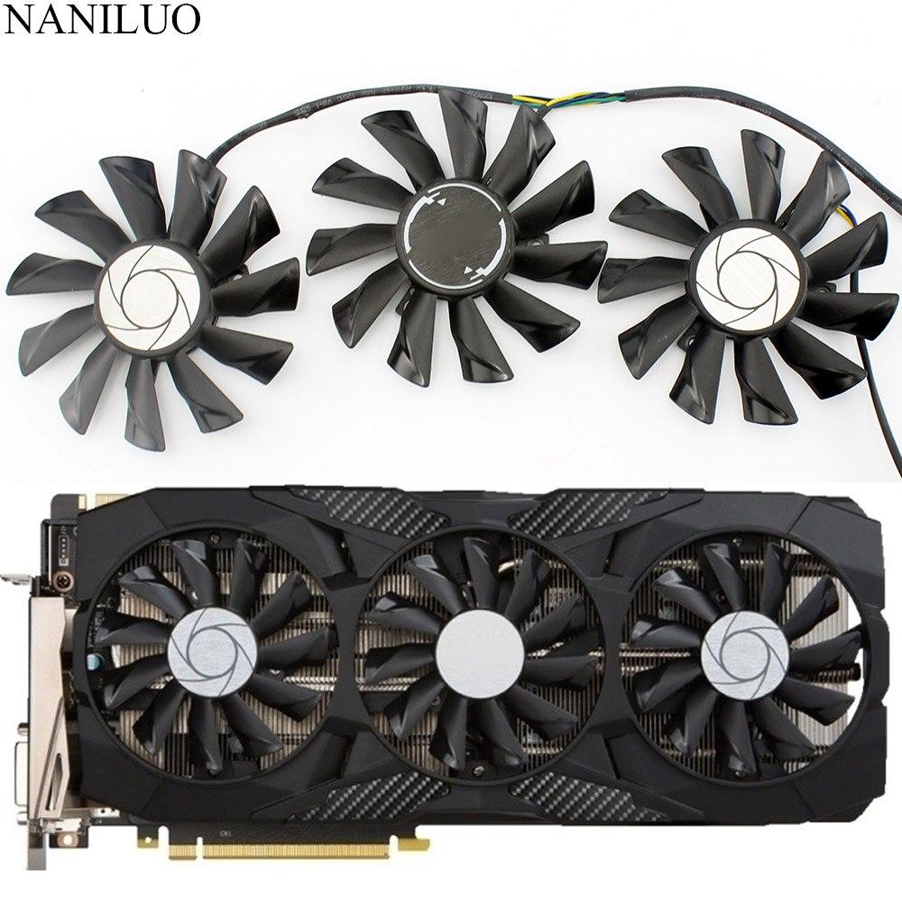 Вентилятор охлаждения для видеокарты MSI GeForce GTX 1070 1060 1080 1080Ti 980Ti Duke, 87 мм