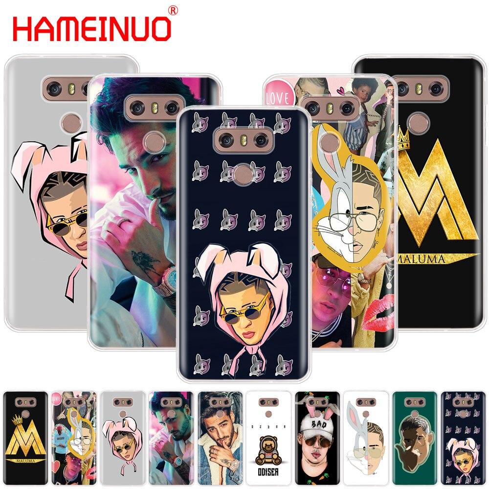 HAMEINUO Bad Bunny Maluma Ozuna POP Hip Hop rapero caso cubierta para LG G7 Q6 G6 MINI G5 K10 K4 K8 2017 2016 X POWER 2 V20 V30 2018