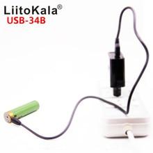LiitoKala pour Panasonic USB-34B 3.7V 18650 3400 mAh Li-ion USB batterie rechargeable avec lumière LED lumière de charge cc