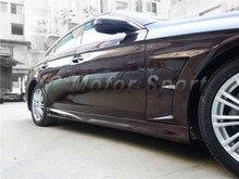 자동차 액세서리 frp 섬유 유리 wi 스타일 사이드 스커트 맞는 2005-2010 mb w219 cls 클래스 사이드 스커트