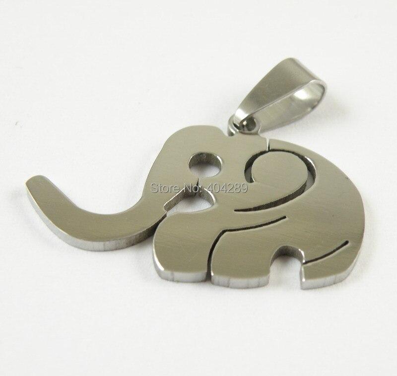 Aço inoxidável colar pingente elefante, Motociclista homens jóias