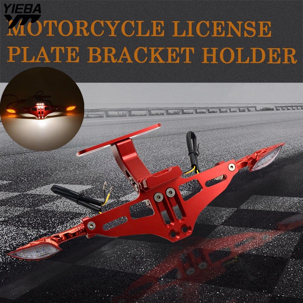 Motocicleta soporte de matrícula de luz para Honda CB 599, 919 de 400 CB600 HORNET CBR 600 F2 F3 900RR 250 VTR 250 MSX PCX125
