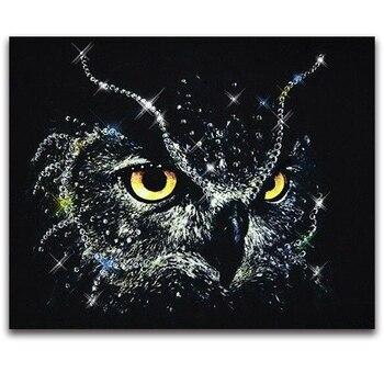 Black Owl Patterns Rhinestones 5d Diy diamond embroidery kit diamond painting 3D full round drill picture room new decor