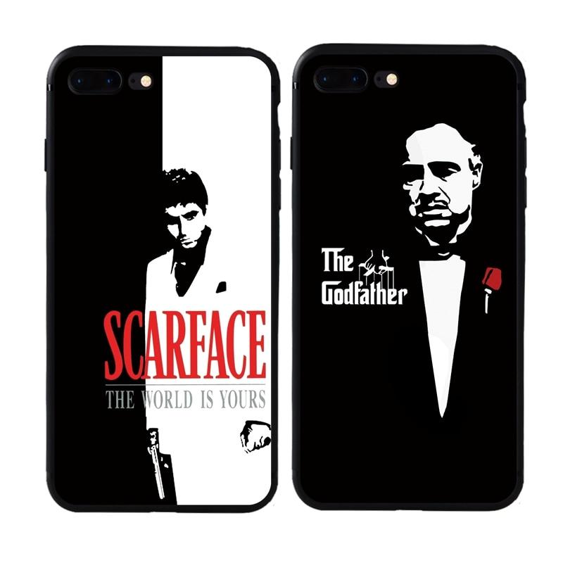 Nueva marca el Padrino para hombre funda de silicona suave para iphone 6 6s 7 Plus 8 Plus X XS Max XR 5S SE cubierta de teléfono TPU Capa
