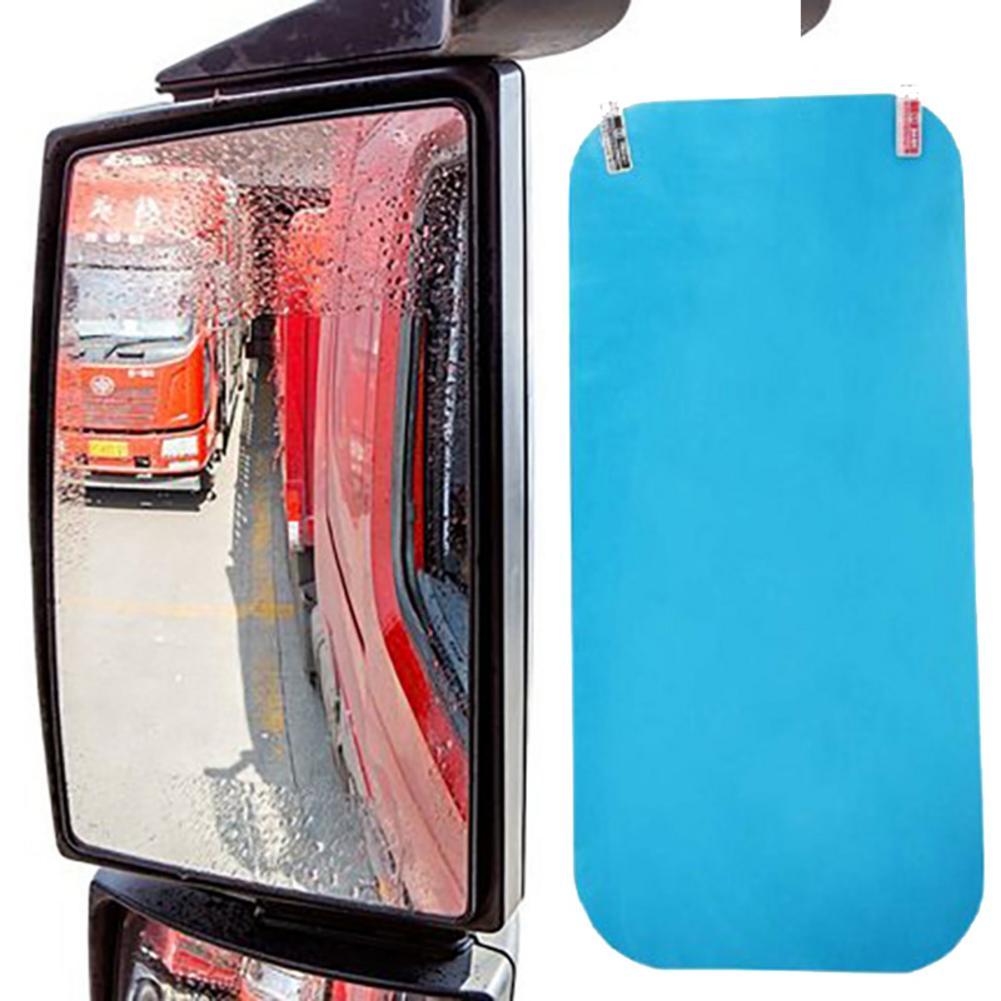 Gran película de lluvia para coche o camión, película protectora para espejo retrovisor, Anti reflejo, Anti-lluvia, Reflector para niebla, Nano películas, inundaciones, hidrofóbico
