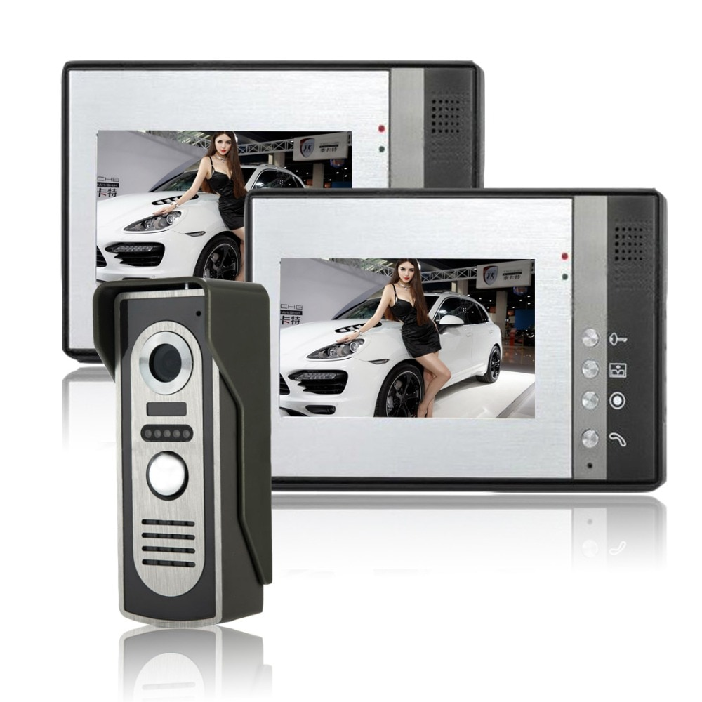 Cámara intercomunicador 7 pulgadas TFT vídeo en Color puerta teléfono timbre sistema IR Cámara Monitor hogar seguridad