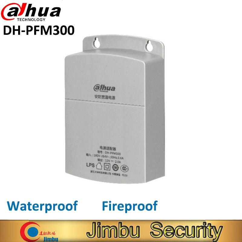 Dahua внешний источник питания CCTV адаптер DH-PFM300 водонепроницаемый выход 12V 2A ВХОД 180 ~ 260V выключатель питания для камеры видеонаблюдения