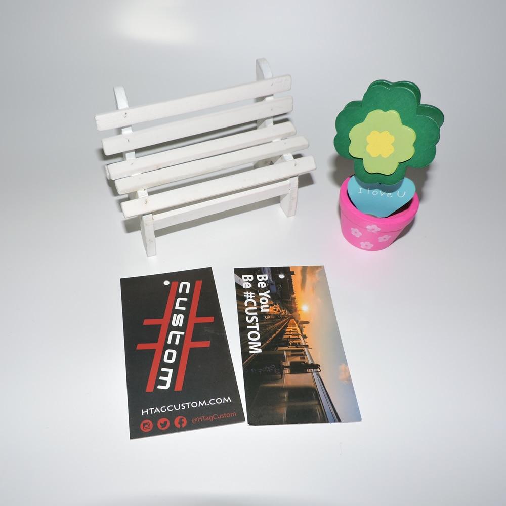 Custom Printed gift  paper hang tag/swing tag/hangtag for garment/500pcs