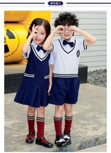 2019 summer new pure cotton British wind primary school uniforms kindergarten garden children's suit