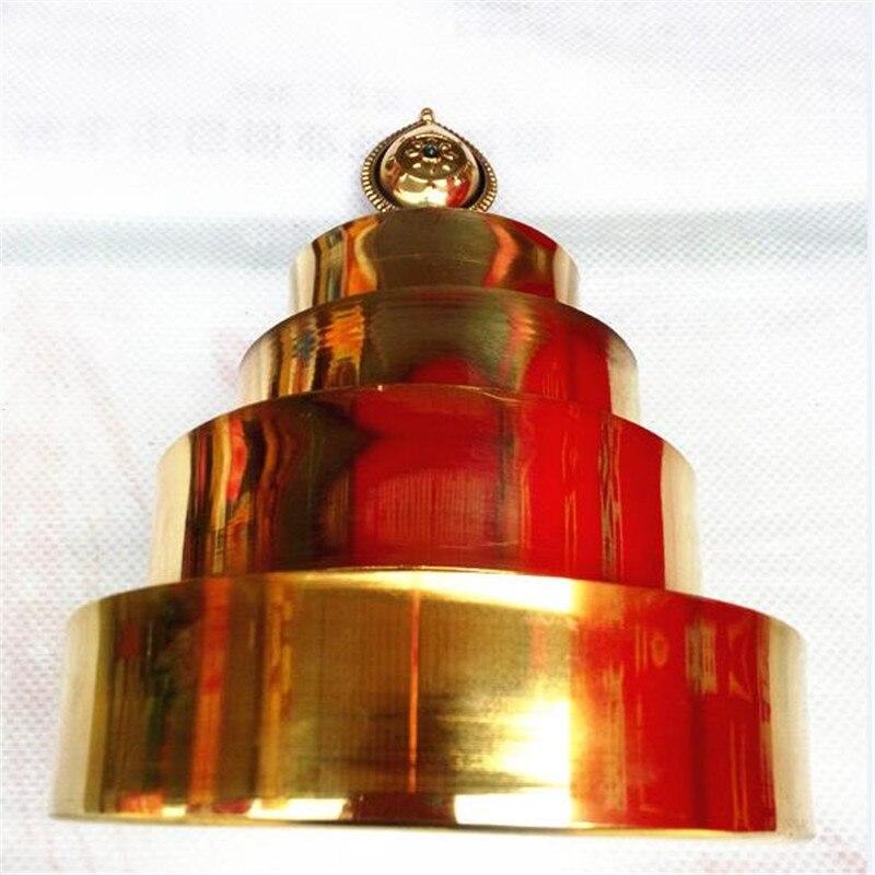 Nepal artesanato dourado espelho manzanar tantric mandala adder esotérico budista taliman religião suprimentos casa cobre artesanato decoração
