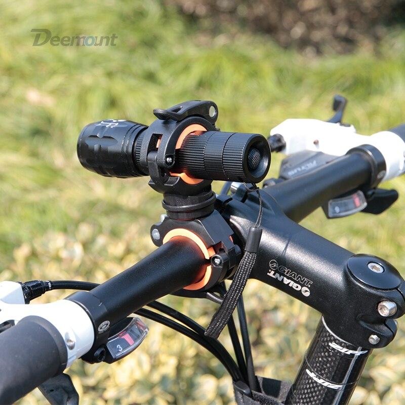 Deemount אופניים אור סוגר אופני מנורת בעל LED לפיד פנס משאבת Stand שחרור מהיר הר 360 תואר Rotatable HLD-211