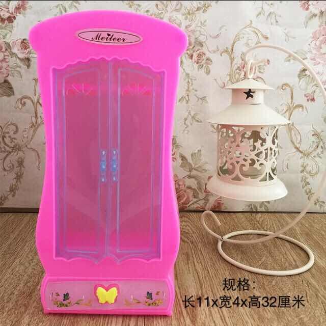 ZWSISU-armario de ropero rosa para muñecas, muebles de princesa Dreamhouse, Dormitorio en...