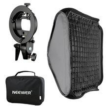 Neewer Bowens Mount Softbox avec grille et support de Flash de type S pour Nikon SB-600/-800/-900/-910/Canon 380EX/430EX