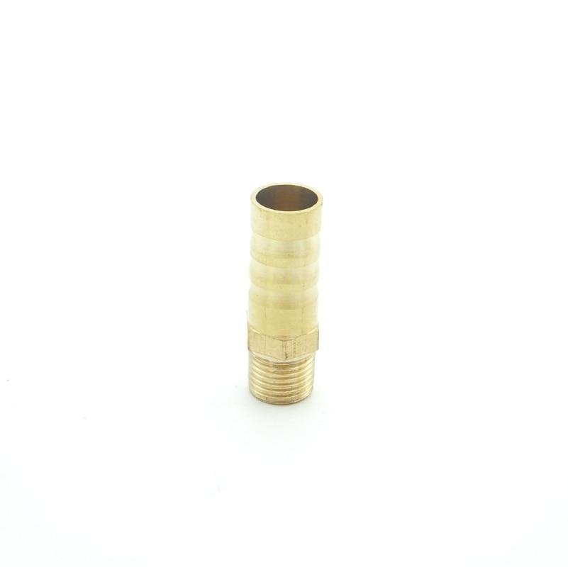 Mm/externo 10mm espiga para manguera x M10x1 métrica rosca macho latón púas acoplador para ajuste de tubería adaptador de conector separador de combustible de agua de Gas