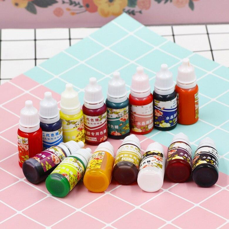15 Uds pigmento UV Gel sólido pegamento silicona resina epoxi de cristal DIY joyería hacer 15 colores