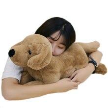 40cm 80cm simulación de Labrador juguete de peluche realista perro animales juguete suave perro almohada abrazo mensaje almohada regalo de oficina para ella